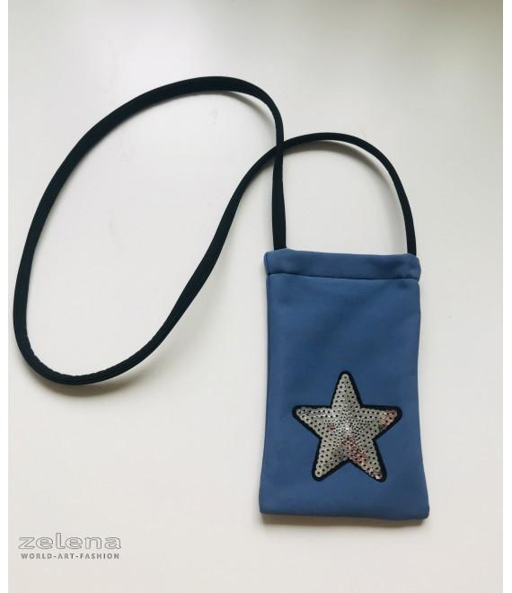 Modrá taštička pro chlapce na mobil