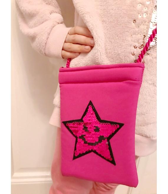 Růžová dívčí kabelka s hvězdou