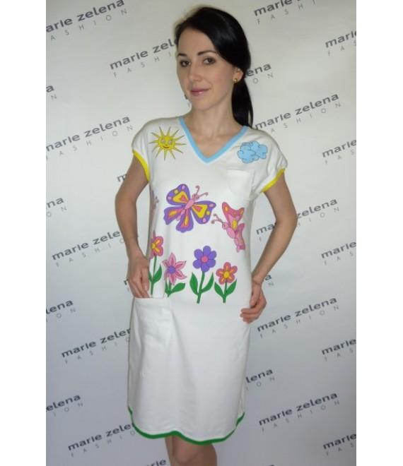 Bavlněné elastické šaty pro dětské lékařky a sestry